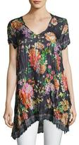 Johnny Was Camilla Floral-Print Silk Top