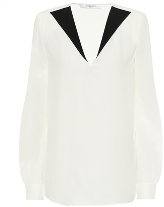 Givenchy Silk-crepe blouse