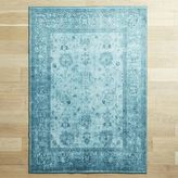 Pier 1 Imports Mae Overdyed Teal Rug