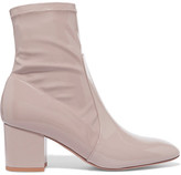 Valentino Faux Patent-leather Ankle Boots - Antique rose