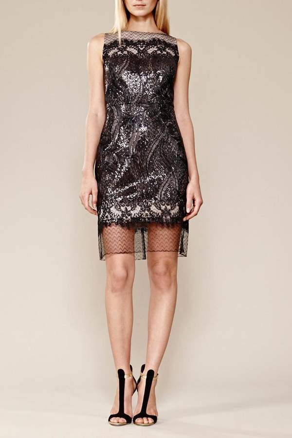 Julia Jordan Sequin Mesh Dress