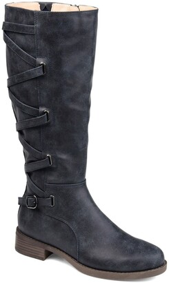 Journee Collection Carly Lace Back Tall Boot