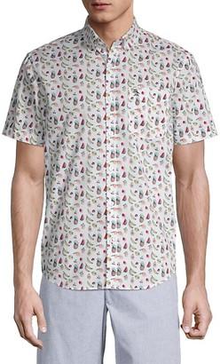 Original Penguin Fruit-Print Short-Sleeve Shirt