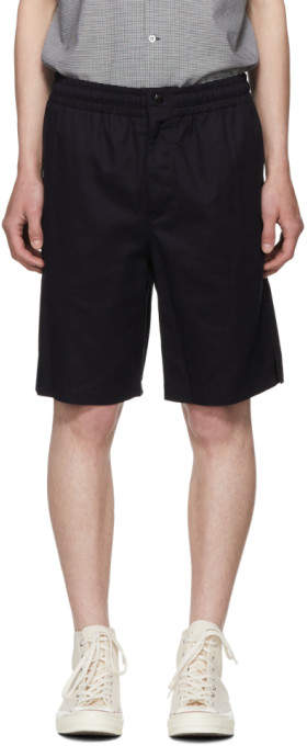 Rag & Bone Navy Smith Drawstring Shorts
