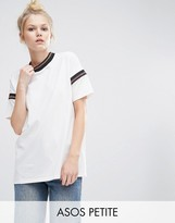 Asos T-Shirt With Sparkly Stripe Insert