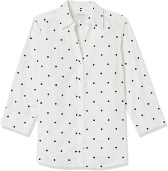 Foxcroft Women's Mary Open Dot Non Iron Shirt