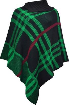 Lazzboy Womens Jumper Cape Shawl Knitted Boho Striped Tassel Pashmina Poncho Cardigan UK 8-16