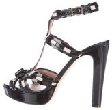 RED Valentino Patent Leather Platform Sandals