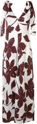 Lee Mathews Floral-Print Dress