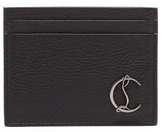 Christian Louboutin Monogram-plaque Leather Cardholder - Black