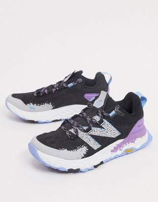 New Balance Running Fresh Foam Hierro trainers in black and purple