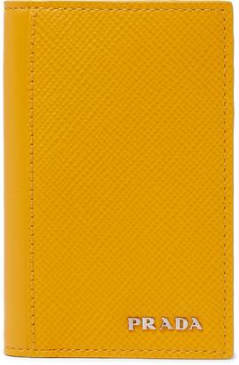Prada Logo-Detailed Saffiano Leather Bifold Cardholder