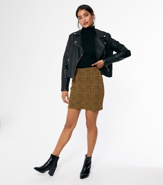 New Look Check Mini Tube Skirt