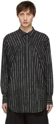 Julius Black Striped Seamed Shirt