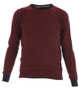 Daniele Fiesoli Men's Blue/burgundy Wool Sweater.