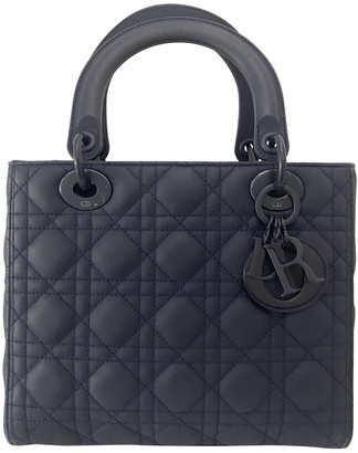 Christian Dior My Lady Navy Leather Handbags