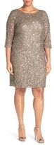 Pisarro Nights Plus Size Women's Draped Back Beaded Dress