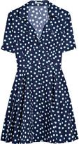 Polka-dot cotton-poplin dress