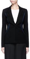 Emilio Pucci Contrast topstitch stretch suiting jacket