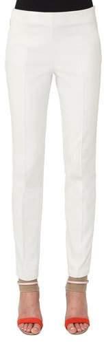 Akris Melissa Ankle-Zip Skinny Pants, Ivory