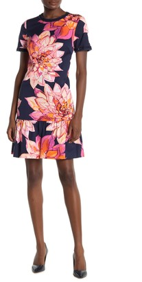 Trina Turk Coast Floral Ruffle Hem Dress