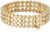 """Nine West Swing Along"""" Gold-Tone 3-Row Stretch Bracelet"""
