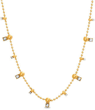 Steve Madden Bar and Ball Chain Necklace