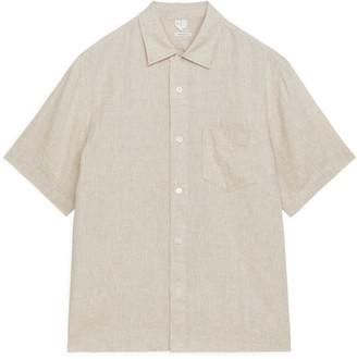 Arket Short-Sleeved Linen Shirt