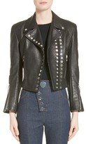 Alexander Wang Women's Snap Leather Moto Jacket