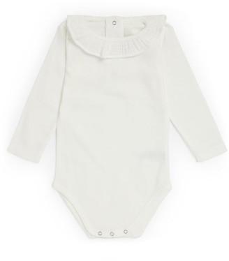 Bonton Ruffle-Neck Bodysuit (1-18 Months)