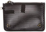 Jerome Dreyfuss Popoche Perforated Leather Clutch