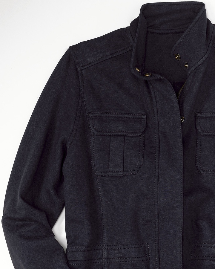 Coldwater Creek Zip front military jacket