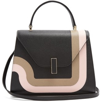 Valextra Iside Medium Grained-leather Bag - Black Multi