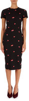 Victoria Beckham Short-Sleeve Flower Jacquard Dress