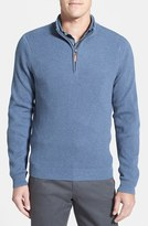 Nordstrom Men's Big & Tall Ribbed Quarter Zip Sweater