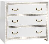 Studded Dresser, Lacquer Simply White