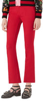 Gucci Wool-Silk Ankle Pants, Hibiscus
