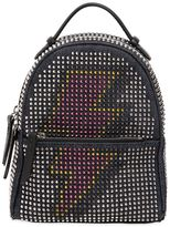 Les Petits Joueurs Micro Mic Flash Denim Leather Backpack