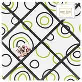 JoJo Designs Spirodot Lime and Black Fabric Memory/Memo Photo Bulletin Board by Sweet