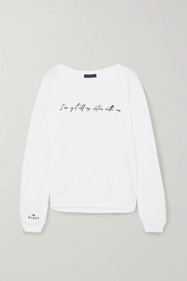 The Range + International Women's Day Embroidered Cotton-blend Terry Sweatshirt - White