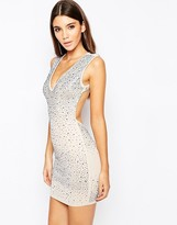 Wow Couture Allover Embellished Diamonte Dress