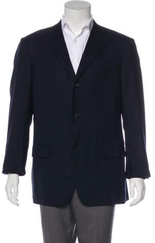Valentino Notch-Lapel Two-Button Blazer Notch-Lapel Two-Button Blazer