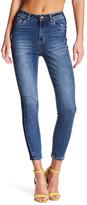 Kensie Jeans Paneled Ankle Crop Jeans