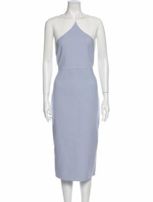 Diane von Furstenberg Sheath Midi Length Dress w/ Tags Blue