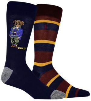 Polo Ralph Lauren Men's Camo Collegiate Bear Slack Sock
