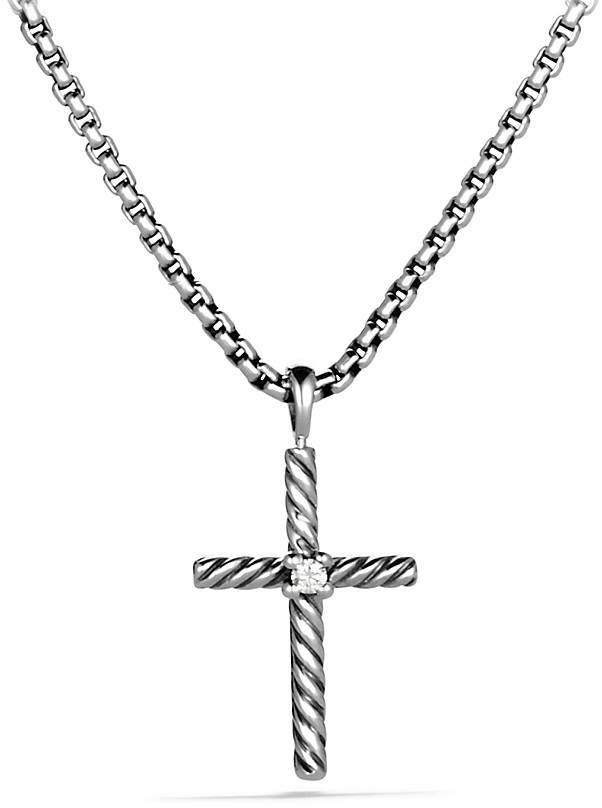 David Yurman Cable Classics Cross with Diamond
