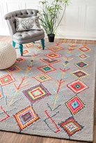 nuLoom Contemporary Hand Tufted Wool Moroccan Triangle Runner Area Rug