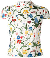 Alice + Olivia Alice+Olivia - floral embroidery blouse - women - Cotton/Nylon/Polyester/Spandex/Elastane - 6