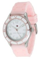 Tommy Hilfiger White Dial Pink Silicone Ladies Watch 1781185