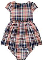 Polo Ralph Lauren Checked Cap Sleeve Dress